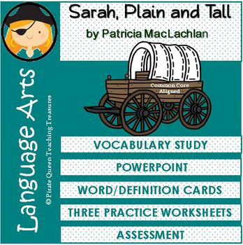 Sarah, Plain and Tall Vocabulary Activities/Common Core Aligned