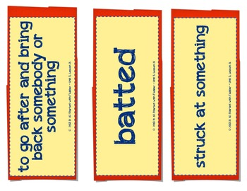 Sarah, Plain and Tall, Vocabulary Cards, Unit 5 Lesson 21, Journeys 3rd Gr
