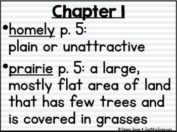 Sarah, Plain and Tall Vocabulary Presentation