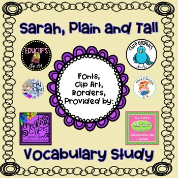 Sarah, Plain and Tall:   Vocabulary Units of Study