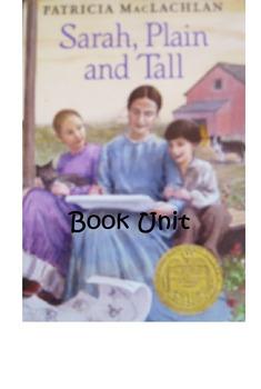 Sarah Plain and Tall  & Skylark by Patricia MacLachlan Book Unit Bundle