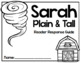 Sarah, Plain and Tall by Patricia MacLachlan Reader Response Companion