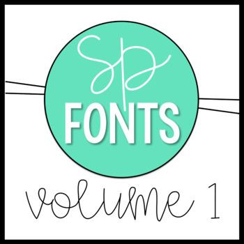 Sarah Price Fonts Volume One