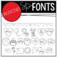 Valentines Doodle Fonts