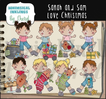 Sarah and Sam Love Christmas Clipart Collection