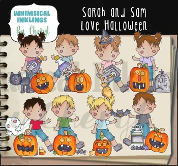 Sarah and Sam Love Halloween Clipart Collection