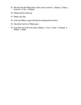 Sarah's Key Reading Check Test/Quiz