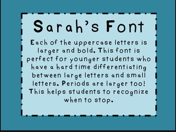 Sarah's Font (Commercial Use okay!)