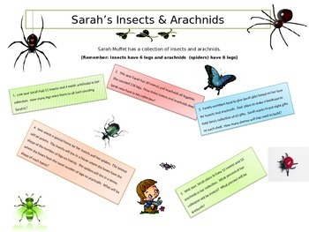 Sarah's Insects & Arachnids - Problem Solving
