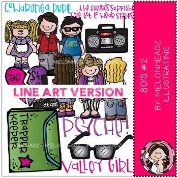 80s part 2 clip art - LINE ART- by Melonheadz