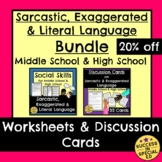 Sarcasm Exaggerated and Literal Language Usage Bundle Midd