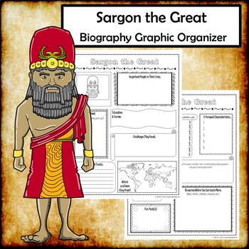 Sargon the Great Biography Research Graphic Organizer