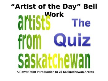 Saskatchewan Art Work Identification Quiz (Includes Answer Key)