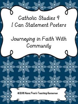 Saskatchewan Catholic Studies 9 I Can Statement Posters