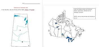Saskatchewan Geography Quiz