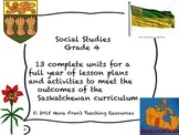 Saskatchewan Grade 4 Social Studies Bundle of all Units