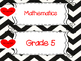 Saskatchewan Grade 5 Math I Can Statement Posters in Black