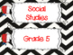 Saskatchewan Grade 5 Social Studies I Can Statement Poster