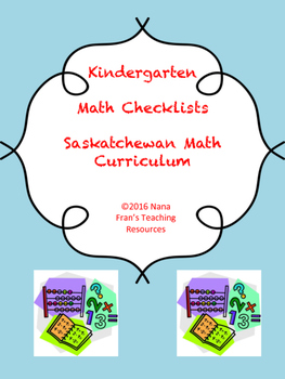 Saskatchewan Kindergarten Math Checklists