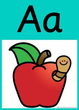 Sassoon Font Alphabet Posters {Rainbow Classroom Decor}