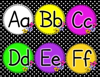Word Wall Letters - Spruce up your classroom!