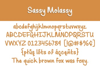 Sassy Molassy Font for Commercial Use