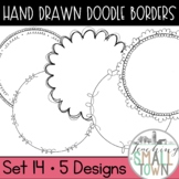 Round Doodle Frames // Personal and Commercial Use // Set 14