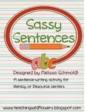Sassy Sentences Literacy Center