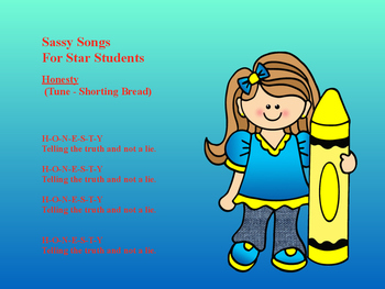Sassy Songs - Volume I - For Learning Life Principles and Character Education