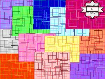 Sassy Squares Digital Paper