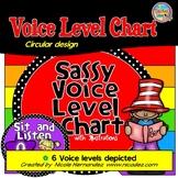 Classroom Voice Level Chart-(Sassy Circular Design)