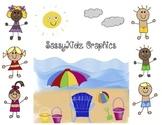 SassyKidz Clip Art at the Beach