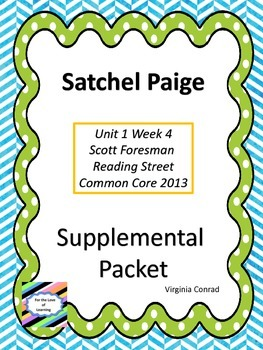 Satchel Paige--Supplemental Packet--Reading Street Grade 5
