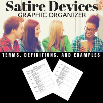 Satire Devices Graphic Organizer
