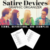Satire Devices Graphic Organizer
