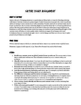 Satire Essay By Jaiden S Tpt Store Teachers Pay Teachers