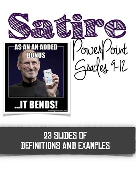 Satire Introduction PowerPoint--Definition, Characteristics, Examples