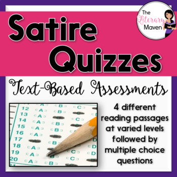 Satire Quizzes: Text-Based Assessments with Multiple Choic