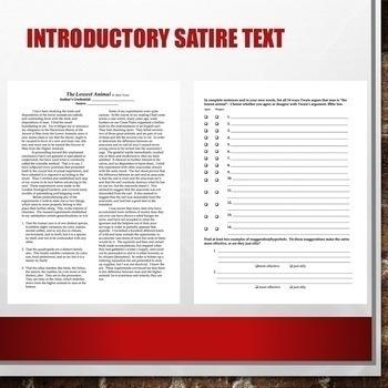 SATIRE BUNDLE: Satirical Devices & Parody PowerPoints, Projects, Assessments