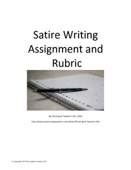 Satire Writing Assignment