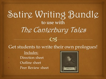 Satire Writing Assignment for The Canterbury Tales: Write Your Own Prologue