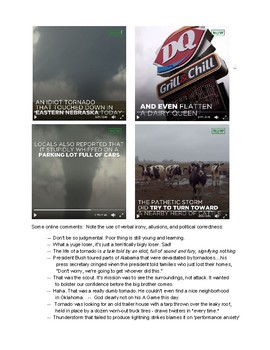 "Satire and Parody: Using The Onion's short ""Idiot Tornado"" video"
