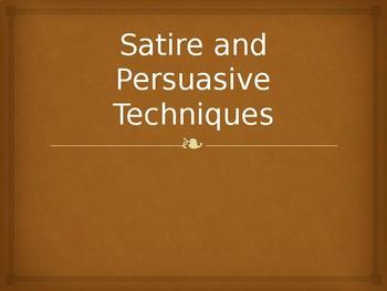 Satire and Persuasive Techniques