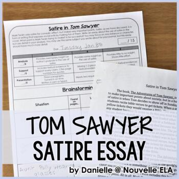 Tom Sawyer Expository Essay And Analyzing Satire Powerpoint By  Tom Sawyer Expository Essay And Analyzing Satire Powerpoint English Composition Essay also Write My Report Com  Thesis Statements For Essays