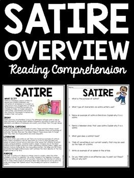 Satire- overview- Reading Comprehension Worksheet, Animal Farm Background