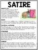 Satire- overview- Reading Comprehension Worksheet, Animal