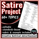 Satire - A Satirical Advertisement Project - Common Core Aligned