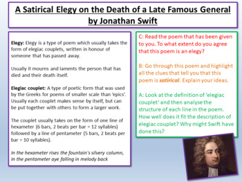 Satirical Elegy on the Death of a Late Famous General - Jonathan Swift