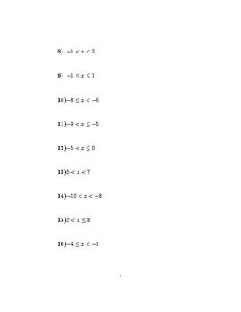 Satisfying inequalities