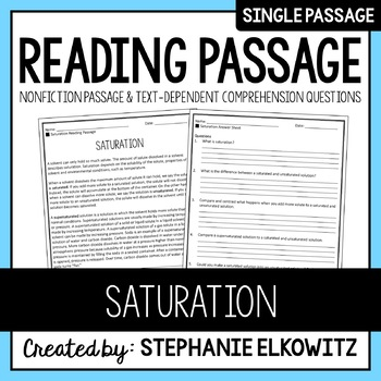 Saturation Reading Passage
